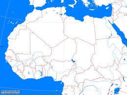 Blank Map Of Israel by Africa North Africa Outline Map A Learning Family