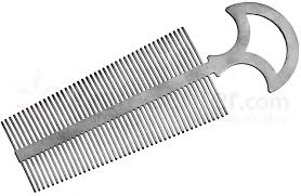 tooth comb gray large titanium tooth comb with handle 6 25