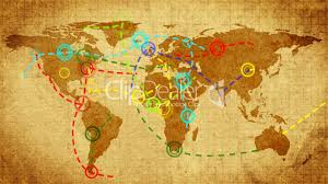 World Map Winter by Christmas Map Of The World Retro Style Royalty Free Video And