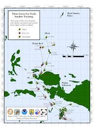 Palau Map Helen Reef