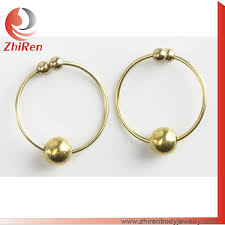 silver piercing rings images Gold or silver color non piercing fantasy nipple bull rings buy jpg