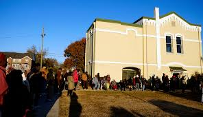 free thanksgiving turkey give away needy families line up for annual james brown turkey giveaway