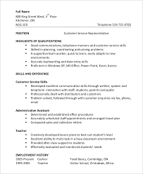 Example Of Resume Skills And Qualifications by Customer Service Skills Resume Example Skills Template For Resume