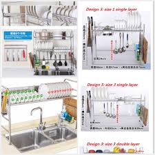 Stainless Steel Kitchen Shelves by Qoo10 Ss304 Drain Rack Dish Racks Basin Stainless Steel Kitchen