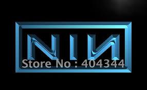online shop lf001 nin nine inch nail rock n roll led neon light
