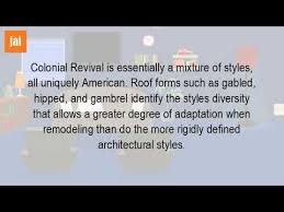 what is a colonial revival style house youtube