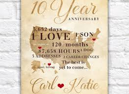 10th anniversary gift ideas for him 2 one year wedding anniversary gift for husband 76 10th wedding
