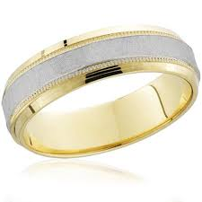 two tone wedding rings 18k yellow gold 950 platinum brushed two tone wedding band mens
