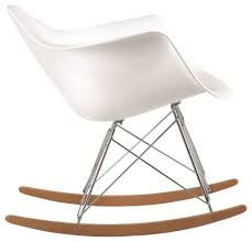 Molded Plastic Armchair Molded White Plastic Armchair Rocker Midcentury Rocking Chairs