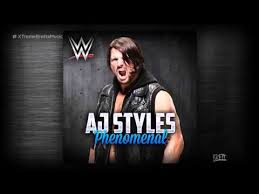 theme song quiz wwe wwe phenomenal itunes release by cfo aj styles new theme
