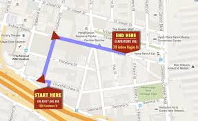Map New Orleans Running Of The Santas Route Map Released Biz New Orleans
