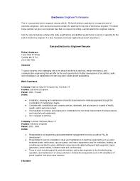 Sample Resume For Non Experienced Applicant Download Electronics Engineer Sample Resume Haadyaooverbayresort Com
