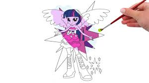 my little pony equestria twilight coloring pages youtube