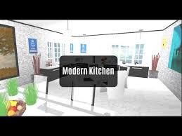 designs of modern kitchen roblox bloxburg room designs modern kitchen ep 3 youtube