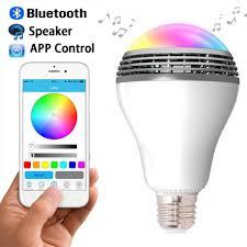 bluetooth music light bulb smart color led bluetooth speaker light bulb with mobile app