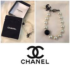 onyx pearl bracelet images 79 off chanel jewelry authentic chanel pearl bracelet w black jpg