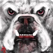sic em digital art by j travis duncan georgia bulldogs inspired