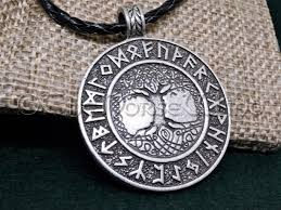 thenorsewind yggdrasil runes viking necklace tree of viking jewelry