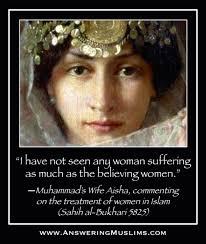 Aisha Meme - answering muslims aisha describes the treatment of women in islam