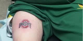 Ohio State Tattoos - look oregon fan loses bet gets ohio state cbssports com