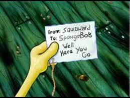 to spongebob well here you go youtube