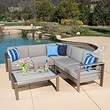 Amazoncom Aluminum Pc Adjustable Lounger Patio Furniture - Outdoor aluminum furniture