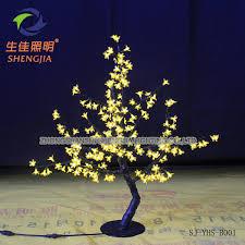 mini white led artificial oak tree nursery plant