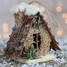 rustic birdhouse ornament ornaments