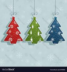 christmas tree decorations royalty free vector image