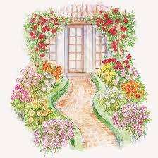 front yard rose garden plan
