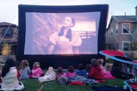 Backyard Movie Night Projector Movie Screen Equipment Rentals San Diego Projector Dvd