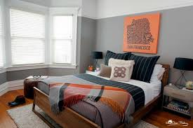 Manly Bed Frames by Bedroom Stunning Bachelor Bedroom Design Colors Bedrooms Orange