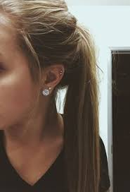 diamond cartilage piercing cartilage ear piercing idea s pins