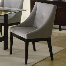 dining room contemporary dining chairs in grey theme made of contemporary dining chairs in grey theme made of upholstered with wingback type and dark brown legs made of wood
