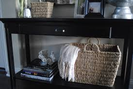 Entryway Table With Baskets Inspiration Ideas Entryway Table With Baskets With Bench With Four