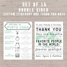 wedding itinerary for guests destination wedding welcome bag letters and guest itinerary