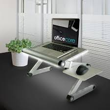 Electronic Height Adjustable Desk by Height Adjustable Metal Standing Desk For Laptops With White Bias