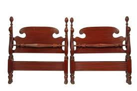 colonial style beds pair of custom twin beds circa 1930s mahogany colonial style