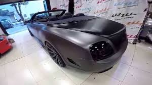 bentley black matte brushed black u0026 matte black chrome bentley gt roadster by wrap