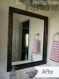 How To Make A Bathroom Mirror Frame Diy Rustic Mirror Frame