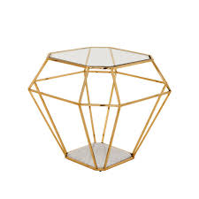 Gold Side Table Eichholtz Asscher Side Table Gold Houseology