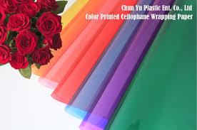 transparent wrapping paper translucent color printed bopp cellophane wrapping paper