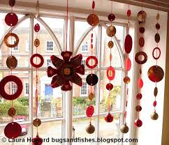 Christmas Window Decorations Homemade by Bugs And Fishes By Lupin Christmas Bling