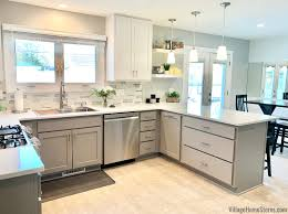 how to install peninsula kitchen cabinets moline gray and white kitchen home stores