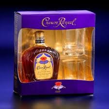 crown royal whiskey gift set 750 ml with 2 glasses walmart