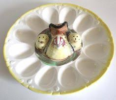 white deviled egg plate vintage rooster deviled egg dish pottery deviled egg plate