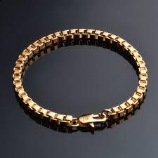 gold hand bracelet images Online shop er 4mm male gold hand bracelet rock homme hiphop box jpg