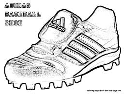 adidas baseball shoes colouring books picture coloring pages book