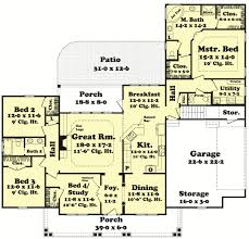 country style house plan 4 beds 2 50 baths 2250 sq ft plan 430 47