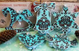 Christmas Decorations Online Shops by Buy Christmas Decorations Turquoise Decoupage On Livemaster Online